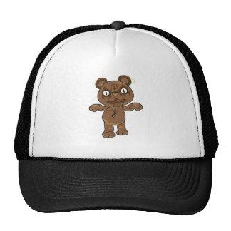 Black Metal Teddy Bear Trucker Hat