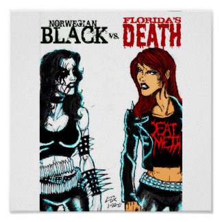 Black Metal Vs. Death Metal Poster