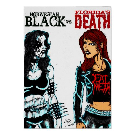 Black Metal Vs Death Metal Poster Zazzle Ca