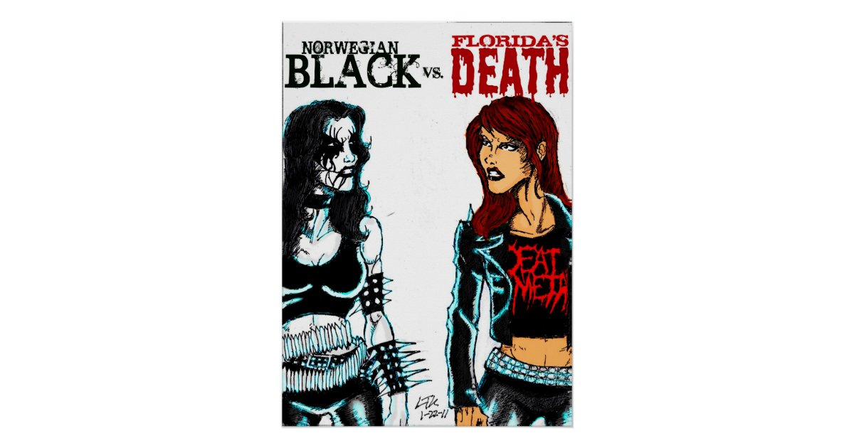 Black Metal Vs Death Metal Poster Zazzle Ca