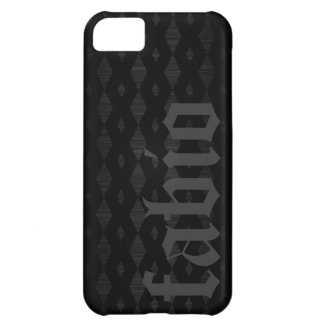 black metal with braid pattern and name iPhone 5C covers