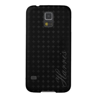 black metal with dots pattern and name galaxy s5 covers