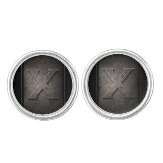 Black Metal X Monogram Pair of Cufflinks