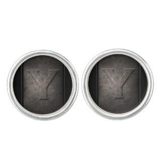 Black Metal Y Monogram Pair of Cufflinks