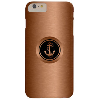 Black & Metallic Coper 2 With Nautical Anchor Barely There iPhone 6 Plus Case