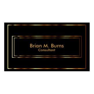Black Metallic Gold Lines Business Card
