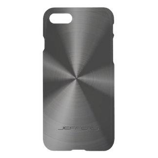 Black Metallic Pattern Stainless Steel Look 3 iPhone 7 Case