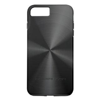 Black Metallic Pattern Stainless Steel Look 3 iPhone 7 Plus Case