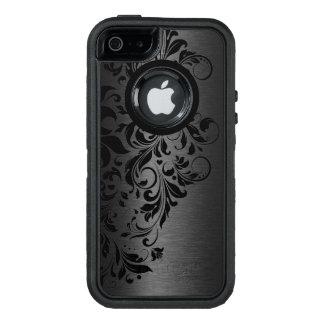Black Metallic Texture & Black Floral Lace OtterBox iPhone 5/5s/SE Case