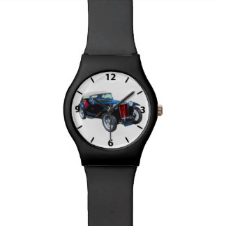 Black Mg Tc Antique Car Watch