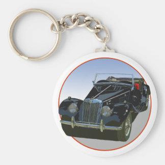 Black MG TF 1500 Basic Round Button Keychain