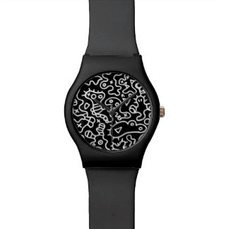 Black microbes wristwatches