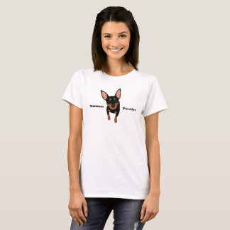 Black Min Pin Miniature Pinscher Women's T-Shirt