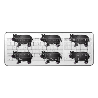 Black Mini Pig Wireless Keyboard