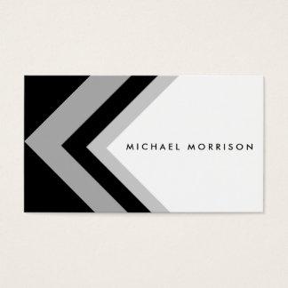 Black minimal congregation arrow geometric modern business card