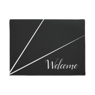 Black Minimalist line design | Door Mat
