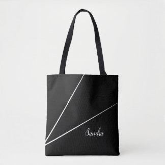 Black Minimalist line design | Tote Bag
