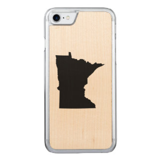 Black Minnesota Map Shape Carved iPhone 7 Case