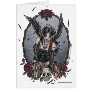 Black Misery Angel Note Card
