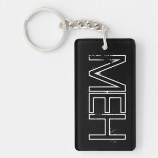 Black MO Monogram Keychain
