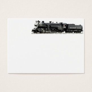 Black Model Steam Train Business Card