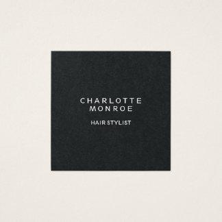 Black Modern Minimalist Professional Square Shape Square Business Card