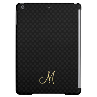 Black Modern Monogram Pattern iPad Air Hard Case iPad Air Case