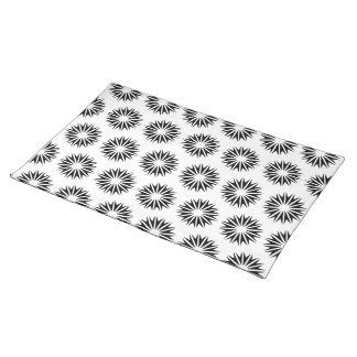 Black Modern Sunbursts Placemat