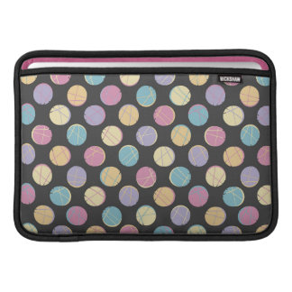 Black modern urban chic colorful dots marries | sleeves for MacBook air