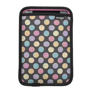 Black modern urban chic retro colorful dots marrie iPad mini sleeve