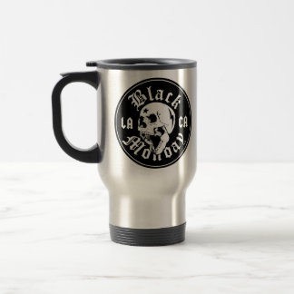 Black Monday Can't Stand You skull travel mug