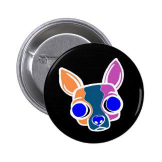 Black Monk Puppy Button