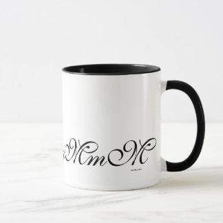 Black Monogram Initial M Pattern Coffee Mug