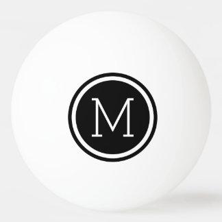 Black Monogram Personalized Ping Pong Balls