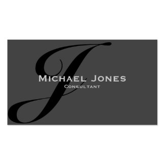 Black Monogram Professional Elegant Modern Business Card