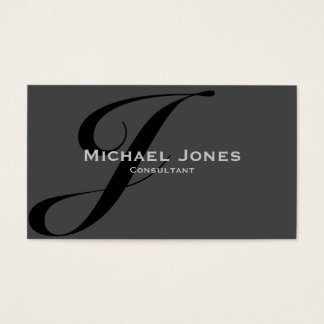 Black Monogram Professional Elegant Modern Business Card