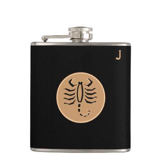 Black Monogrammed Flask - Zodiac - Scorpio