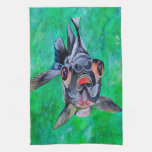 Black Moor Goldfish Hand Towel