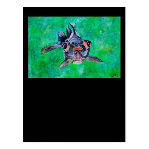 Black Moor Goldfish Postcard