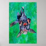 Black Moor Goldfish Print