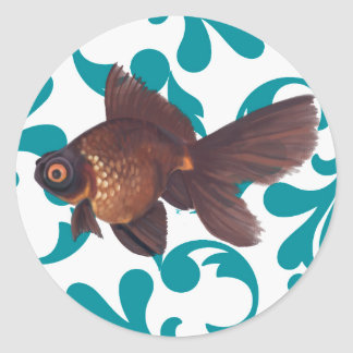 Black Moor Goldfish Sticker