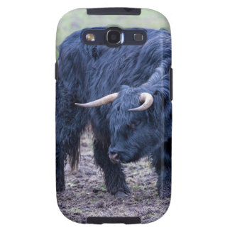 Black mother scottish highlander cow samsung galaxy s3 cover