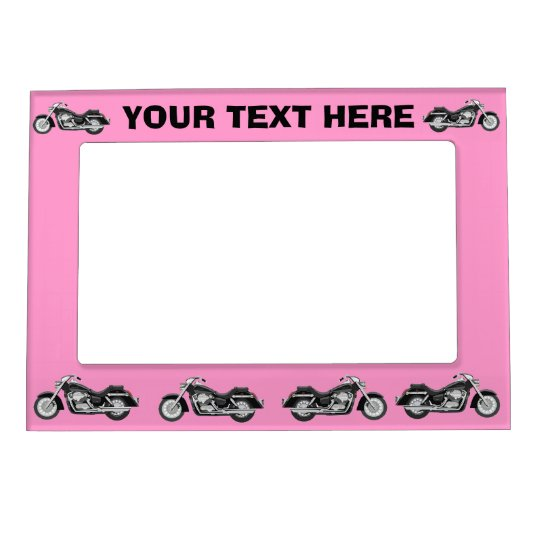 Black motorbike on any colour magnetic photo frame