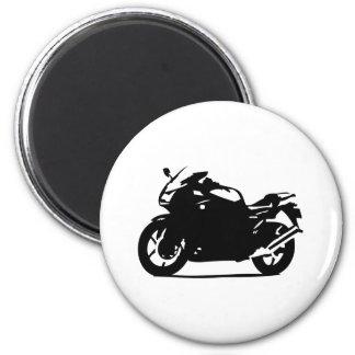 black motorcycle bike icon magnet