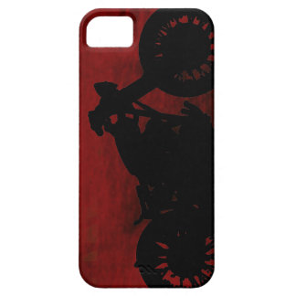 black motorcycle silhouette iPhone 5 cover