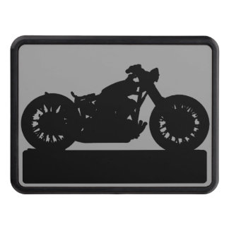 black motorcycle trailer hitch cover