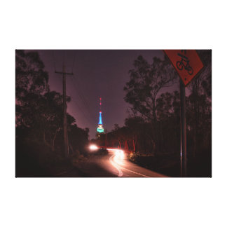 Black Mountain Tower Wrapped Canvas Stretched Canvas Prints