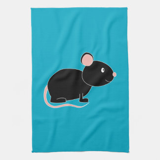 Black Mouse. Kitchen Towel