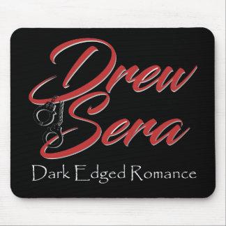 Black mousepad with Drew Sera's logo