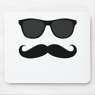 Black Moustache and Sunglasses Humour Gift Mouse Pad